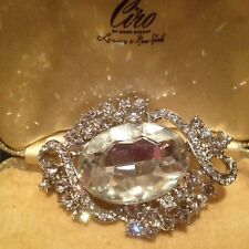 LARGE VINTAGE STYLE BRIDAL/SPECIAL OCCASION DIAMANTÉ AND CRYSTAL COSTUME BROOCH