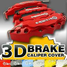 3D 4PCS Red Brembo Style Brake Caliper Cover Racing Disc For Nissan 350Z 370Z