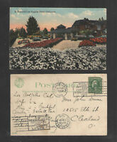 1915 A BEAUTIFUL LOS ANGELES HOME CALIFORNIA POSTCARD { + PANAMA-PACIFIC EXPO }
