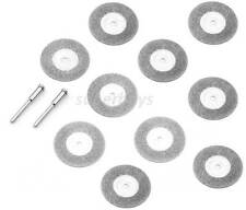 12pc 35mm Dremel Abrasive Emery Diamond Cutting Grinding Wheel Discs Mandrel Saw