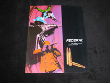 Federal Preferred Ammunition Sporting Firearms Catalog Brochure Guns Rifles 1