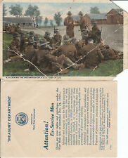 postcard Explaining Army rifle, treasury dept insurance paper (P-1)