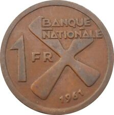 Katanga 1 Franc 1961 KM#1 Cross of Katanga (4560)