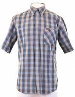 MARLBORO CLASSICS Mens Shirt Short Sleeve Large Multicoloured Check Cotton  W203