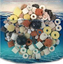 Mixed 50g Aquarium Fish Tank Filter Media Activated Carbon Ceramic Ring Ball