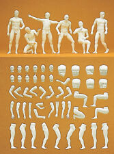 Preiser 63900 Model Figures Adam Unpainted 1 3 2 Boxed