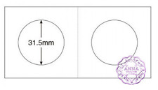 "PCCB 31.5mm Cardboard Staple 2""x2"" Coin Holders X 50 Pcs"