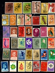 Suriname - 140 different stamps, nice collection (55L)