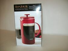 Bonjour Coffee 8-Cup Riviera French Press With Coaster and Scoop Red Color