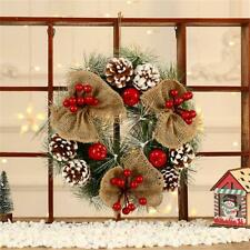 Christmas Tree Wreath Door Hanging Pine Cones Garland Wall Ornament Xmas Decor