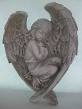 Winged Guardian Angel Wall Hanging Ornament Garden-Graveside-Resin (fac right)