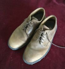 CLARKS-ACTIVE AIR-MEN SZ 7M-BROWN LEATHER DERBY-VERY COMFORTABLE-USED-NICE SHAPE