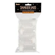 4 SHAKER TOP EMPTY BOTTLES Jars Crafts Glitter Sprinkles Baking Spices