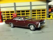 1/64 67 Chevy Impala SS 2Dr. Htp in Plum/White Int with a 396 Auto/Rally Wheels