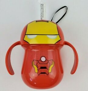 The First Years Marvel SuperHeroes Iron Man Soft Straw Sippy Cup with handles