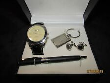 BLACK CODE BEVERLY HILL & COMPANY WATCH, WALLET, PEN, CUFFLINKS, KEYCHAIN