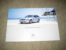 Mercedes C-Klasse T-Modell S203 Prospekt Brochure von 8/2002, 68 Seiten
