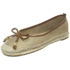 New in box Michael Kors Meg Espadrilles Flats Shoes Gold 5.5 9.5