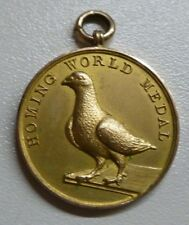 9ct Gold Homing World Medal Rossendale, Lancs 1898 Victorian Homing Pigeon Award