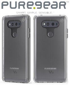 PUREGEAR CLEAR SLIM SHELL PRO ANTI-SHOCK CASE TRANSPARENT COVER FOR LG V20 PHONE