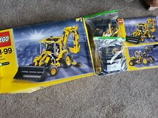 LEGO Technic 8455 Backhoe Loader Boxed Set JCB Digger Complete