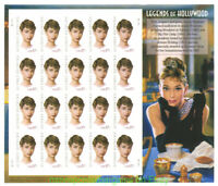 AUDREY HEPBURN STAMP 'S BREAKFAST AT TIFFANY'S movie famous POSTER image onSheet