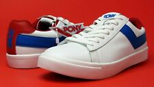 PONY (Product of New York) TOPSTAR OG Low Top Premium Leather White Red Blue Men