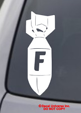 F BOMB Vinyl Decal Sticker Car Window Wall Bumper Funny JDM ILLEST DOPE DRIFT