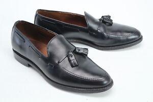 Allen Edmonds Mens Shoes 10 D Grayson Tassel Loafers Black Leather Slip On