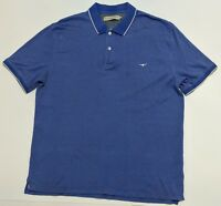 R.M. Williams Mens Polo Shirt Size XXL Blue with White Tips 100% Cotton