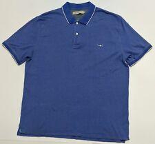 R.M. Williams Mens Polo Shirt Size XXL Blue with White Tips 100% Cotton