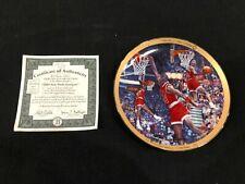 Michael Jordan Bulls Upper Deck 1988 Slam Dunk Champion Collector's Plate