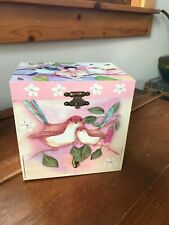 Enchantmints Sweet Fairy Wrens Girls Pink Jewelry Music Box Playing Dance of the