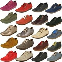 Ladies Clarks Comfortable Lace Up Flats - Funny Dream