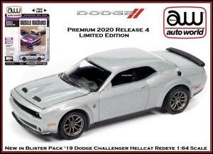 Auto World New Premium '19 Dodge Challenger Hellcat 1:64th Scale Diecast Cars