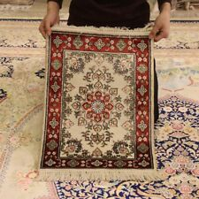 Yilong 1.5'x2' Small Oriental Area Rugs Handknotted Silk Carpets 116Ab