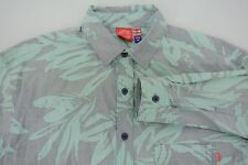 NWT Warriors of Radness Opening Ceremony Casual Shirt Heron Blue Foliage Medium