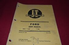 Ford 8000 9000 Tractor I&T Tractor Shop Manual DCPA6