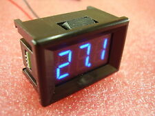 """7-150v blue 0,36 """"deux fil panneau voltmeter dc écran led digital 100V 12V #H 16"""