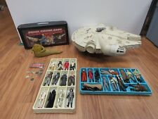 vintage star wars large lot 1977 -1985 action figures Millenium Falcon Jaba 4057