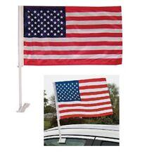 Bandiera americana USA stars & stripes parata con asta per finestrino auto truck