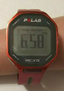 Red Polar RCX5 GPS Heart Rate Monitor Fitness Digital Smart Watch FREE shipping