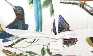 New~Pottery Barn Fauna Bird Print Full Queen Comforter + 2 Shams