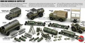 Airfix Raf Bedford Mwc Mwd Bowser Bomb Trolley 1:72 Airfield Tank Truck Bombs