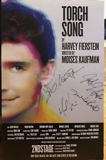 Michael Urie + Cast Signed TORCH SONG Off Broadway Poster Windowcard - LAST ONE