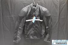 NEW 3XL XXXL BLACK POLYESTER REFLECTIVE ARMOR MOTORCYCLE JACKET*JACKET RUN SMALL