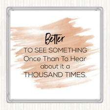 Watercolour See Something Once Quote Drinks Mat Coaster