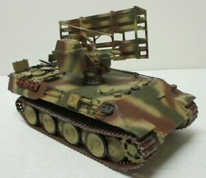 Pro Built 1:35 Scale Panther with Rockets Tank Model Beautifully Done LA576