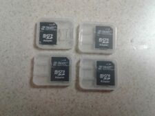 Lot Of 4 - Smart MicroSd to Sd Memory Card Adapter Micro sd - With Cases 4 Pc