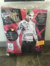 Suicide squad the joker adult costume XL includes shirt green wig & makeup NEW